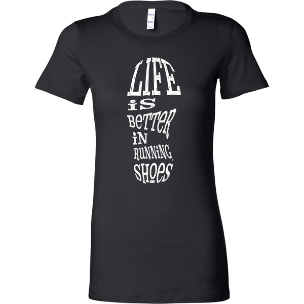 Womens Shirt Life Is Better In Running Shoes T-shirt buy now
