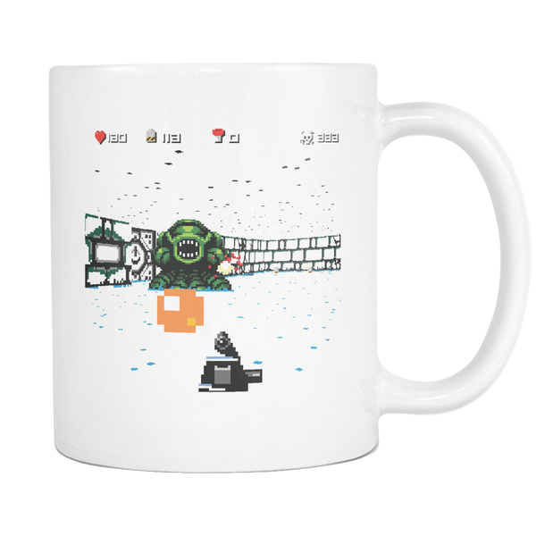 Mug 8-bit Killer (white) Drinkware buy now