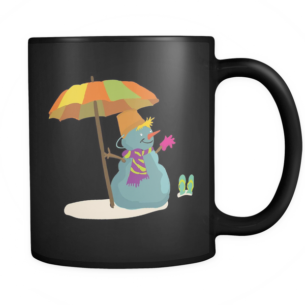 Mug Snowman (black) Drinkware buy now