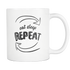 Mug Eat Sleep Repeat (white) Drinkware buy now