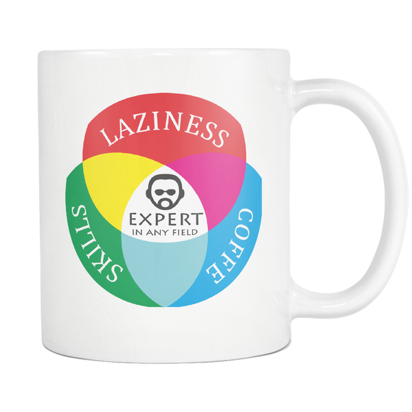 Mug Laziness Coffee Skills Expert (white) Drinkware buy now