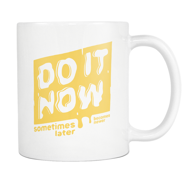 Mug Do It Now (yellow print) Drinkware buy now
