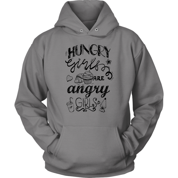 Womens Hoodie Hungry Girls Are Angry Girls T-shirt buy now