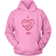 Womens Hoodie I Love Hate Kill Miss You