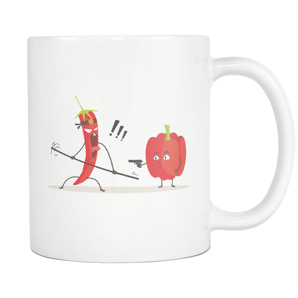 Mug Chili vs Paprika (white) Drinkware buy now