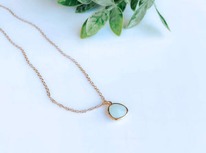 Alice Blue Gemstone Necklace