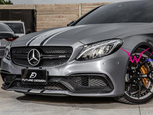 Load image into Gallery viewer, C63 AMG Carbon Fibre Front Splitter