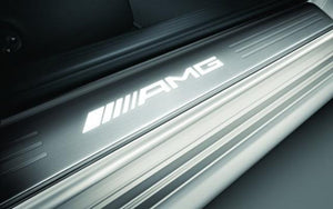 X218 CLS AMG Embossed & Illuminated door sills