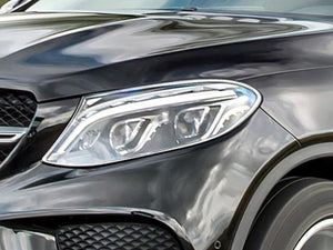 GLE Coupe C292 Chrome headlamp surrounds set