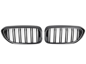 BMW 5 Series G30 Twin Bar M Performance Gloss Black Grilles