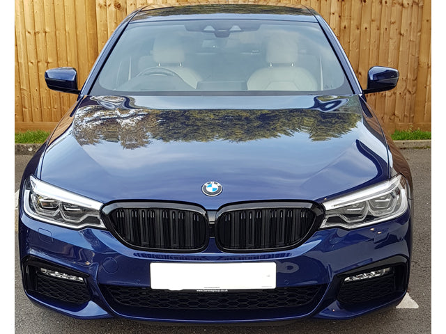 BMW 5 Series G30 Twin Bar M Performance Gloss Black Grilles Models Until July 2020