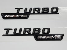 Load image into Gallery viewer, Turbo AMG Badge for Wings Matt Black - Set of 2pcs