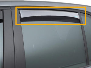 W221 S Class Wind deflector Set for Rear windows Long Wheel base models