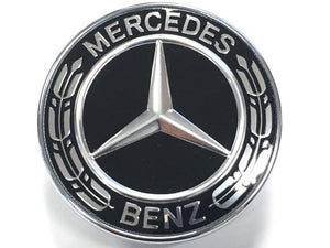 mercedes black bonnet badge