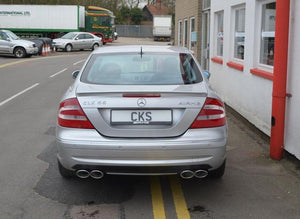W209 CLK Coupe Quad tailpipe exhaust - all mod incl  CLK55