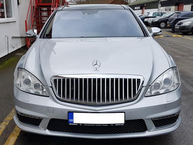 W221 S Class Maybach Style Grille Grill S600 Black