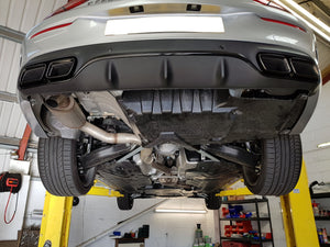AMG C63 Coupe Cabriolet Rear Diffuser Night Package & Chrome or Black Tailpipes
