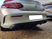 Load image into Gallery viewer, AMG C63 Coupe Cabriolet Rear Diffuser Night Package & Chrome or Black Tailpipes