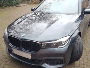 BMW G11 G12 7 Series Kidney Grilles Gloss Black New Twin Bar Design