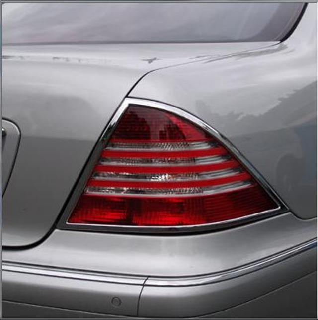 W220 S Class Chrome tail lamp surrounds