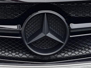 Matt Black Mercedes star emblem - NOT FOR MODELS WITH DISTRONIC