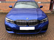 BMW G20 3 Series Kidney Grilles Gloss Black with Silver Diamond Grilles