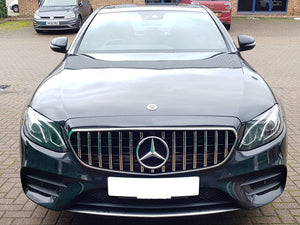 AMG Panamericana Grille Black with Chrome bars for models - NOT FOR AMG E63
