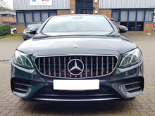 Load image into Gallery viewer, AMG Panamericana Grille Black with Chrome bars for models - NOT FOR AMG E63