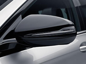 Gloss Black Mirror Covers Set for Left Hand Drive Vehicles