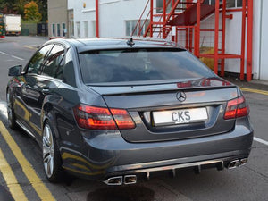 CKS W212 E63 Style Sport Exhaust with 4 x AMG Style E63 Double Square  tailpipes Saloon and Estate