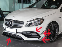 Load image into Gallery viewer, AMG A45 & A Class AMG Line Gloss Black Front Bumper Aero Spoiler Set 2016+