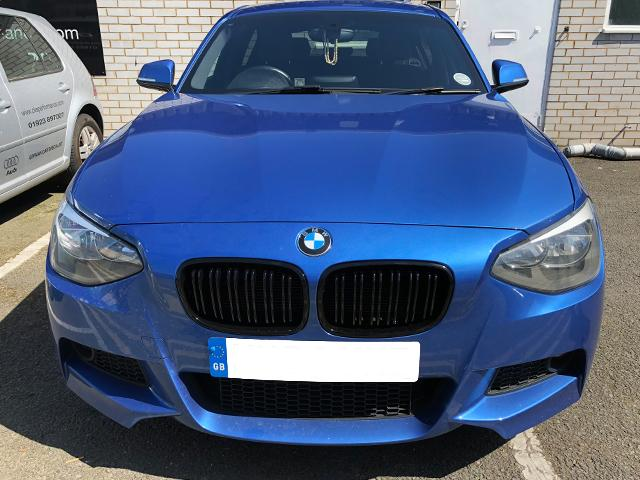 BMW F20 F21 1 Series Kidney Grilles Gloss Black M2 Style