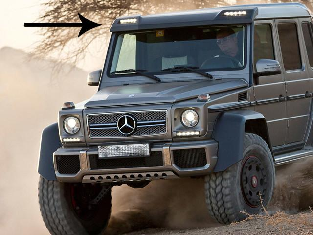 AMG G63 Style Front Roof Wing Spoiler with LED Light Bar