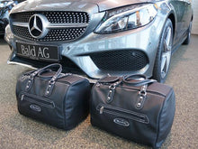 Load image into Gallery viewer, Mercedes C Class Cabriolet C205 A205 Back Seat Bag Set