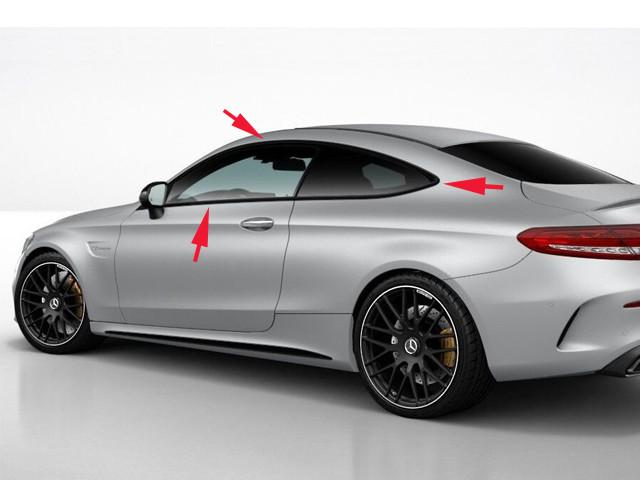 C205 C Class Coupe Windows Night Package Trims