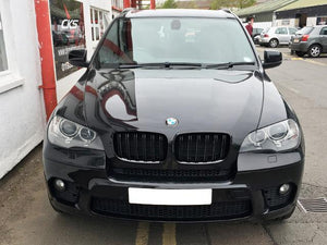 Bmw E71 X6 Kidney Grilles Gloss Black Twin Bar M Style 2007 Onward