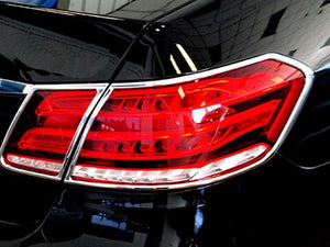W212 E Class Chrome Tail lamp surrounds set Saloon Sedan models from 04/2013