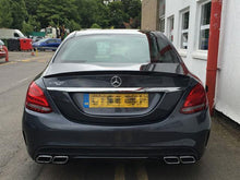 Load image into Gallery viewer, Mercedes W205 C Class Saloon Sedan Boot Trunk Lid Spoiler Gloss Black