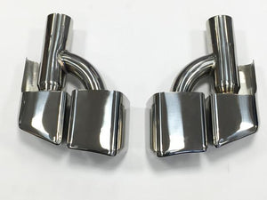 AMG Style Quad Square 4 Pipe Tailpipes