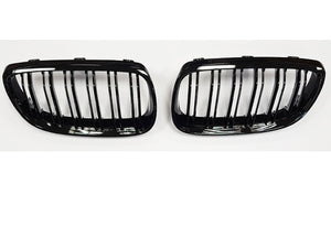 BMW E92 E93 3 Series Coupe Cabriolet Kidney Grill Grille Gloss Black Twin Bar 2010+