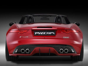 Jaguar F Type Coupe and Cabriolet Quad Exhaust with Black Tailpipes for Rear Diffuser