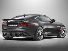 Load image into Gallery viewer, Jaguar F Type Coupe and Cabriolet Quad Exhaust with Black Tailpipes for Rear Diffuser