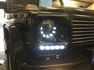 W463 G Wagen LED Headlamps in Black Right Hand Drive Vehicles 1986-2009