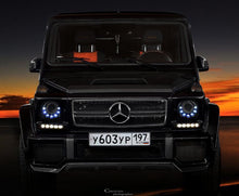 Load image into Gallery viewer, W463 G Wagen LED Headlamps in Black Right Hand Drive Vehicles 2010+