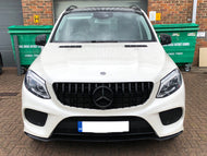 AMG Panamericana Grille All Gloss Black GLE SUV models From 2015 Onwards