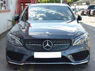 Mercedes W205 Diamond grill