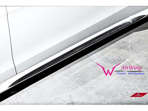 Carbon Fibre Side Skirt Inserts Facelift W212 E63 and AMG Line models from 04/2013