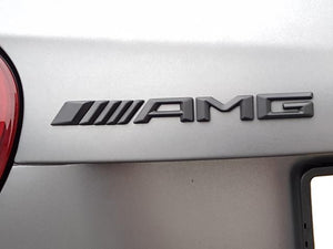 AMG Boot Trunk lid Badge 142mm Length x 13mm Height Matt Black