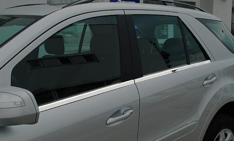 W164 ML Chrome Window Stripes Trims