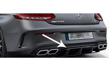Load image into Gallery viewer, AMG C63 S Edition 1 Rear Diffuser Insert Gloss Black C205 C Class Coupe Cabriolet